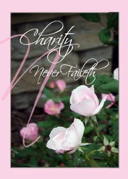 "Charity Never Faileth - Wedding - 5"" x 7"" KJV Greeting Card"