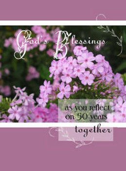 """God's Blessings - 50 Years - 5"""" x 7"""" KJV Greeting Card"""