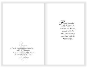 "Praying For You - 5"" x 7"" KJV Greeting Card 430"