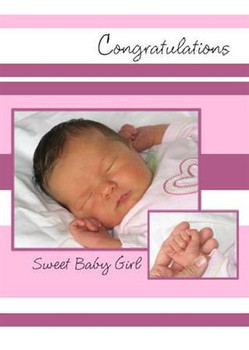 "A Sweet Baby Girl - 5"" x 7"" KJV Greeting Card"