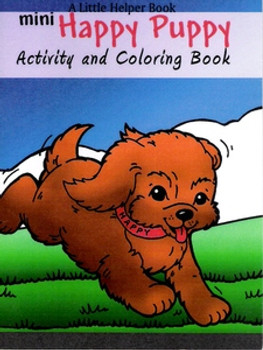 Mini Happy Puppy Activity & Coloring Book
