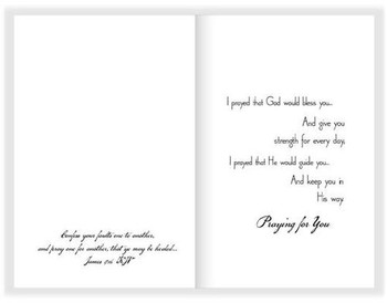 "To Lift your Name in Prayer - 5"" x 7"" KJV Greeting Card"