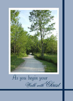 "As you Begin your Walk With Christ - 5"" x 7"" KJV Greeting Card"