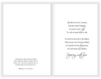 """A New Life in Christ - 5"""" x 7"""" KJV Greeting Card"""