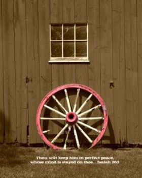 Perfect Peace (Wheel) - 5 Blank Notecards