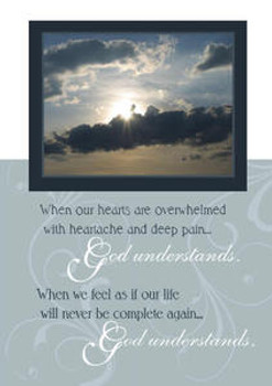 "God Understands - 5"" x 7"" KJV Greeting Card"