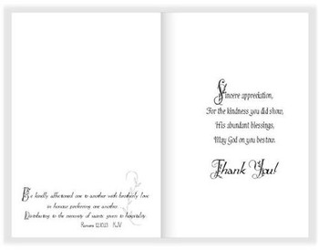 "May God Bless your Kind Hospitality - 5"" x 7"" KJV Greeting Card"