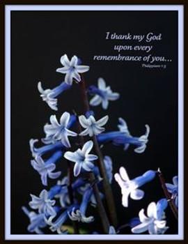 I Thank My God - 5 Blank Notecards