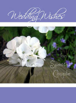 """Wedding Wishes for a Special Couple - 5"""" x 7"""" KJV Greeting Card"""