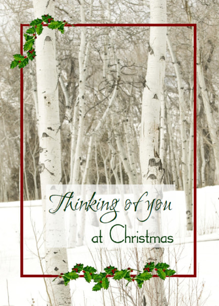 "Thinking of You at Christmas - 5"" x 7"" KJV Greeting Card"