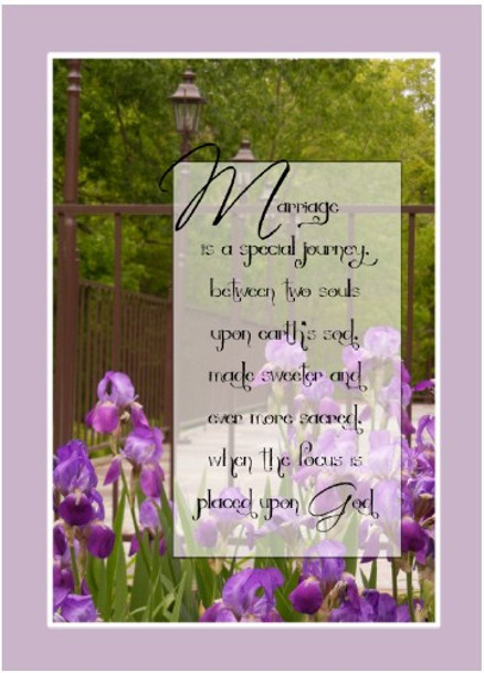"""Marriage is a special journey - 5"""" x 7"""" KJV Greeting Card"""