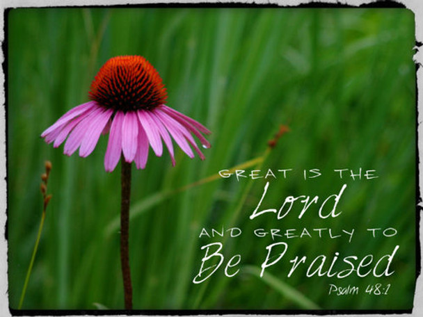 Great is the LORD  - 5 Blank Notecards