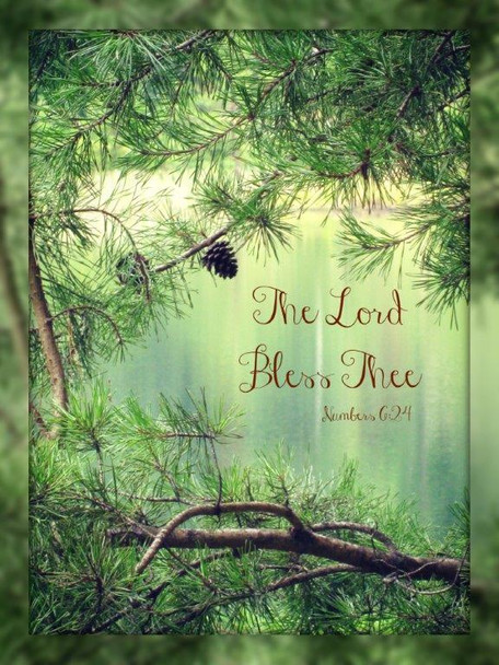 The Lord Bless Thee (Woods) - 5 Blank Notecards