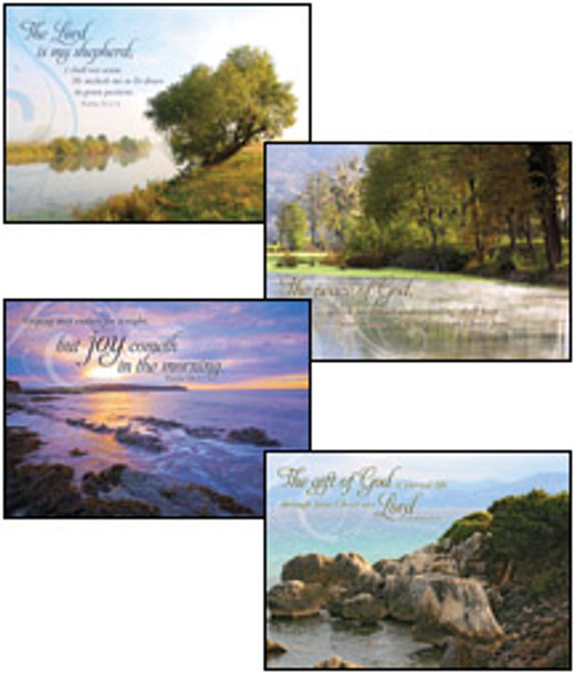 KJV Boxed Cards - Sympathy, Peaceful Reflections