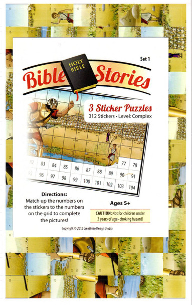 Bible Sticker Puzzles Set 1 - 3 Puzzles, 104 Pcs Each