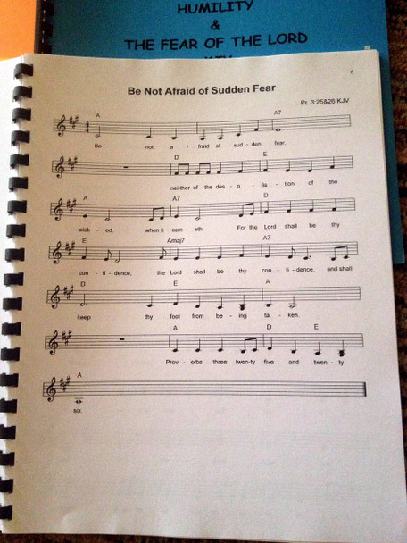 Humility & The Fear of the Lord Vol 7 Sheet Music - Singables KJV Scripture Songs