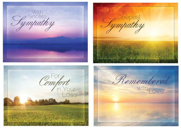 KJV Boxed Cards - Sympathy, Beyond the Sunset