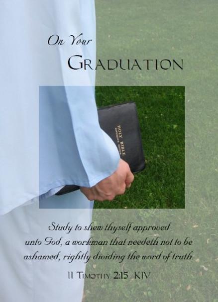 "On Your Graduation - 5"" x 7"" KJV Greeting Card 53"