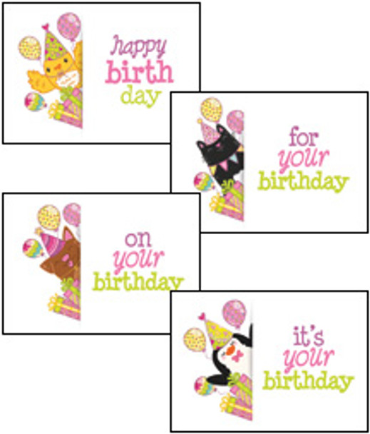 KJV Boxed Cards - Birthday for Child - Peek a boo Animals