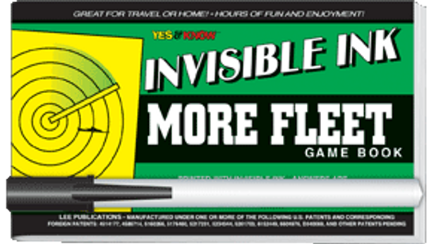 """Invisible Ink: Yes & Know® Game Book """"More Fleet"""""""