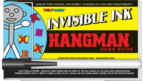 """Invisible Ink: Yes & Know® Game Book """"Hang Man"""""""