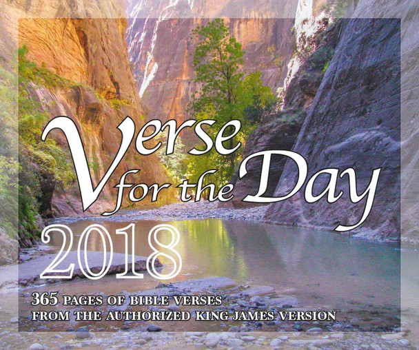 Verse for the Day - 2018 Daily Desk Calendar - 365 Page a Day KJV Scriptures on Inspirational Calendar - Cover