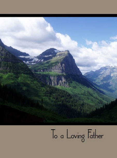 """To a Loving Father - 5"""" x 7"""" KJV Greeting Card"""