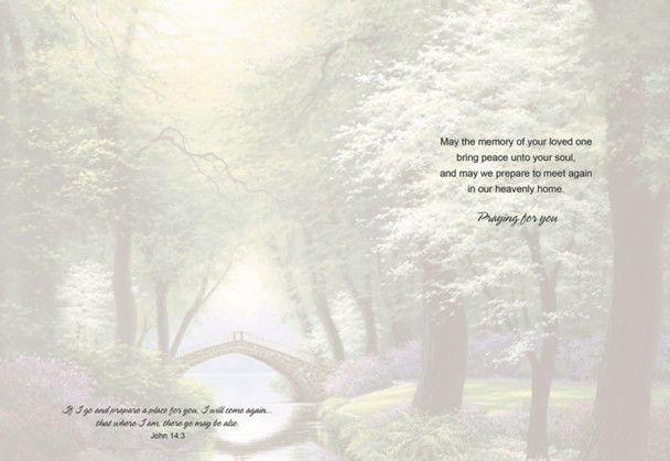KJV Boxed Cards - Sympathy, Peaceful Retreat by Heartwarming Thoughts