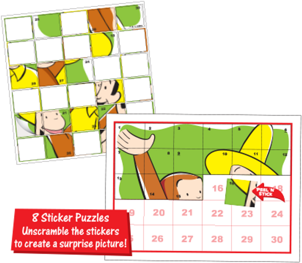 Sticker Puzzles & Magnets - Curious George