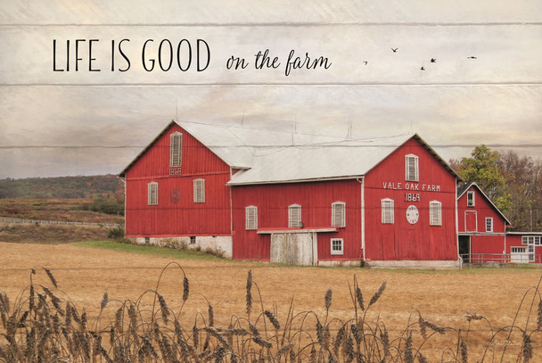 Life is Good on the farm - Wall Plaque by Heartwood Hollow