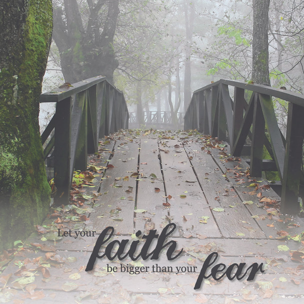 Let Your Faith - Wall Plaque by Heartwood Hollow