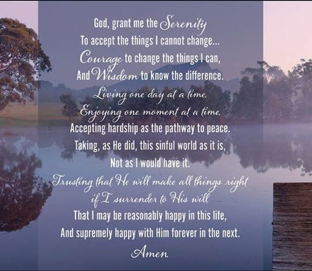 Serenity Prayer - Wall Plaque by Heartwood Hollow