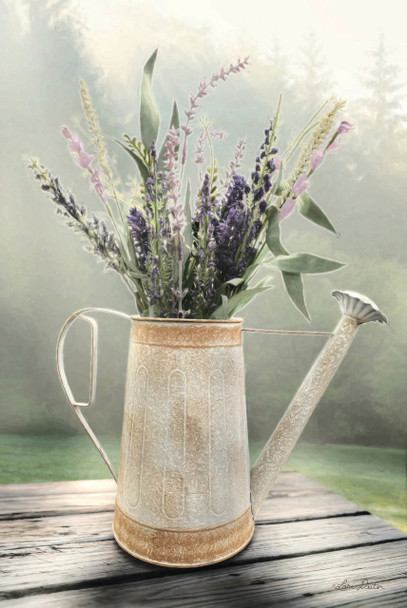 Lavender Watering Can - Wall Plaque by Heartwood Hollow