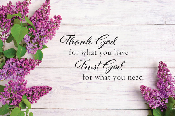 Trust God - Wall Plaque by Heartwood Hollow
