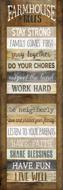 Farmhouse Rules Shutter - Wall Plaque by Heartwood Hollow