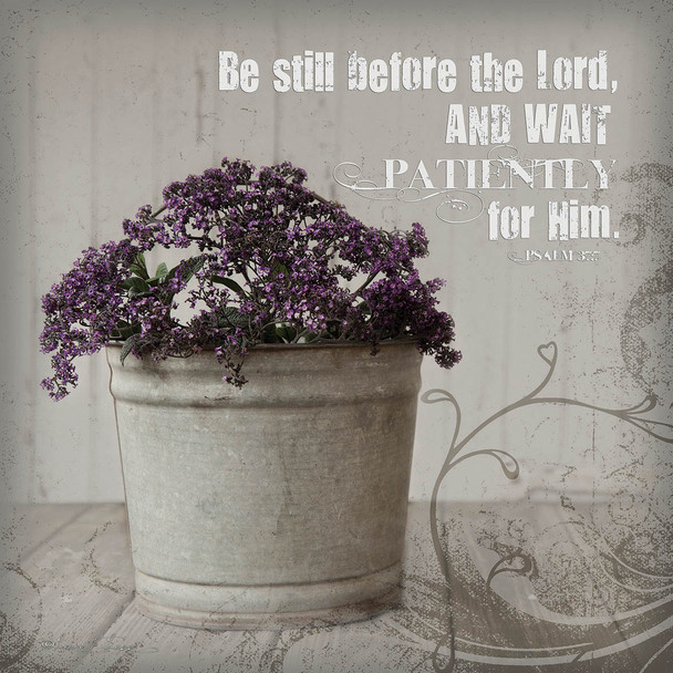 Patiently - Wall Plaque by Heartwood Hollow