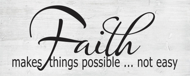 Faith - Wall Plaque by Heartwood Hollow