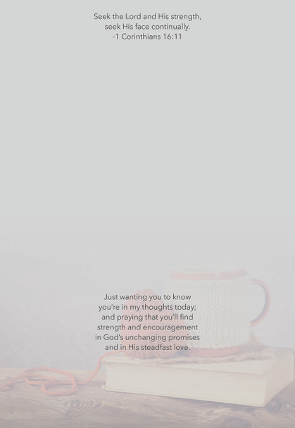 KJV Boxed Cards - Thinking of You, Cup of Comfort by Heartwarming Thought