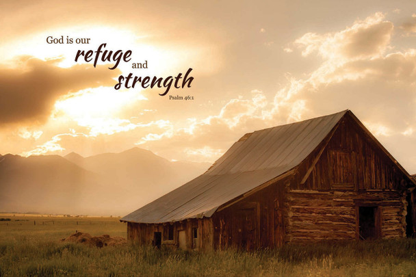 Refuge & Strength - Wall Plaque by Heartwood Hollow