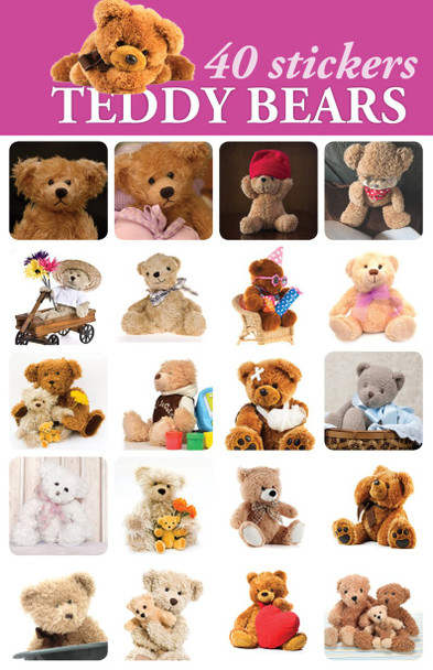 Teddy Bear Stickers - 2 sheets