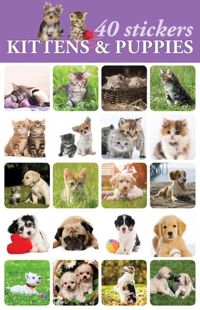 Kittens & Puppies Stickers - 2 sheets
