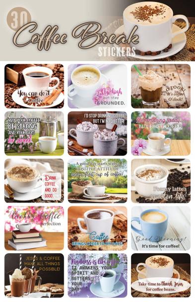 Coffee Break Stickers - 2 sheets