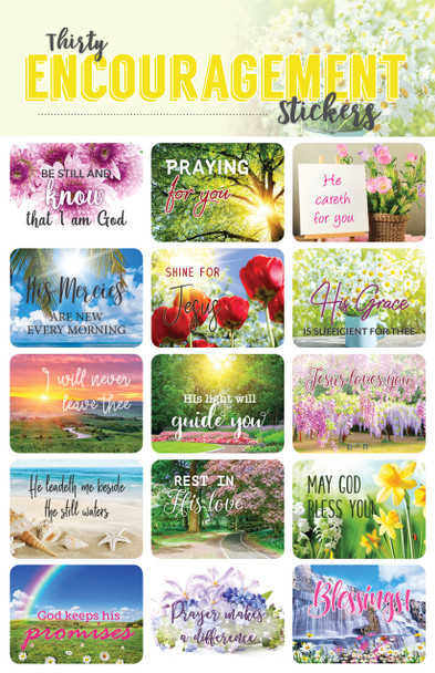 Bible Verse Encouragement Stickers - 2 sheets