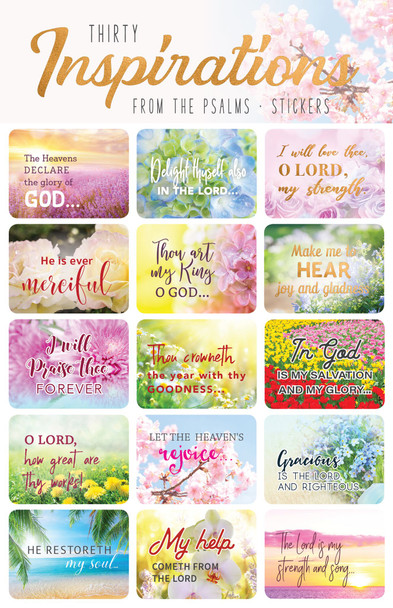 Bible Verse Inspirational Psalms - Stickers - 2 sheets