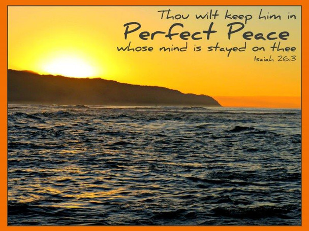 Perfect Peace (ocean) - 5 Blank Notecards
