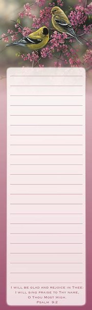 Goldfinches & Redbud - Magnetic List Pad - by Heartwarming Thoughts