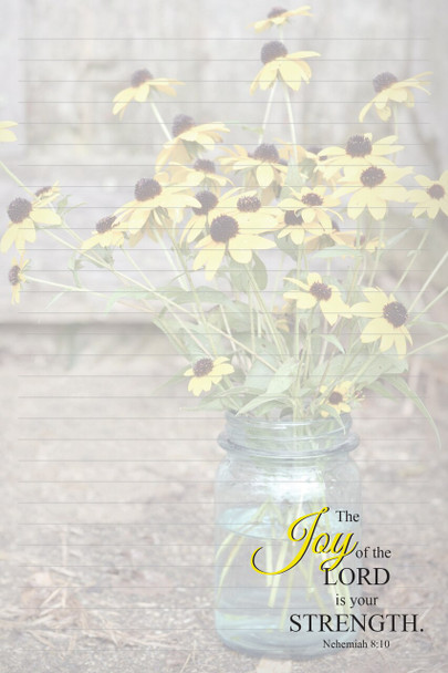 Joy Bouquet - Stationery Pad - by Heartwarming Thoughts