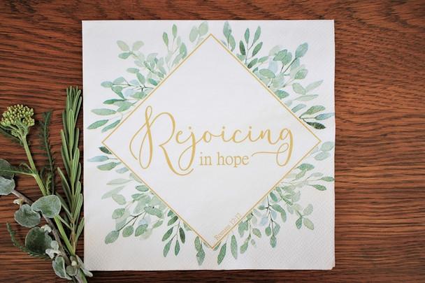 "Rejoicing Leaves - Luncheon Napkins with KJV Bible Verse - 6.5"" x 6.5"" (20/pkg)"