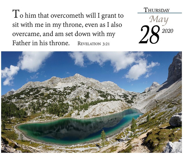 Verse for the Day - Calendar 2020 - May Page with KJV Scripture