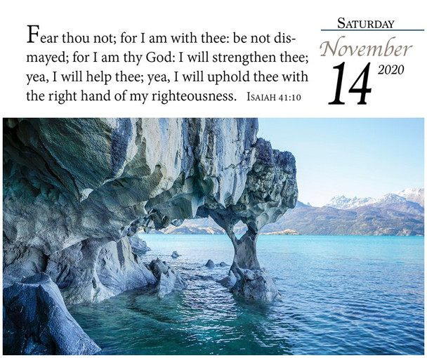 Verse for the Day - Calendar 2020 - November Page with KJV Scripture